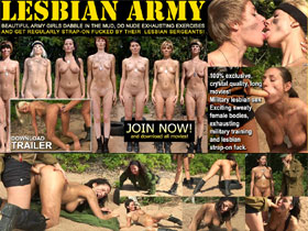 Lesbian Army - nude female soldiers, army sex videos, lesbian strap on, threesome lesbians!