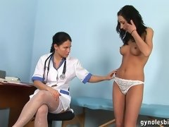 Nude lesbian body exam and... porn video